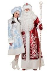 Яркие костюмы Деда Мороза и костюмы Снегурочки