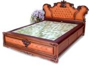 Кровать из природного грунта и камня с подогревом под заказ