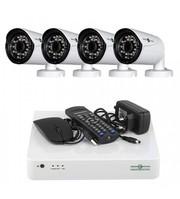 Комплект Видеонаблюдения GreenVision На 4 Уличных FullHD Камеры 2 Мп